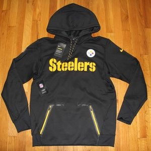 NEW Nike Pittsburgh Steelers Therma-Fit Hoodie M